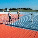 金属屋根の施工例|活用事例 耐衝撃、超高速硬、防水、耐薬品、ポリウレアコーティング材の株式会社アーマード・プロダクツ