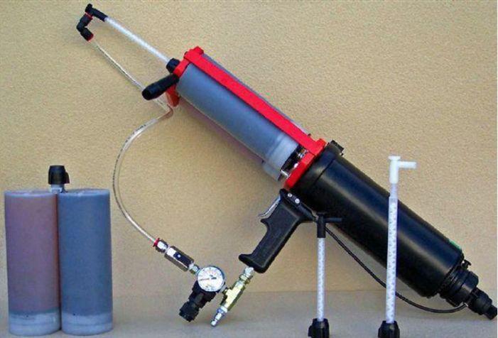 カートリッジガン方式_簡易スプレー|耐衝撃、超高速硬、防水、耐薬品の高性能ポリウレアコーティング材