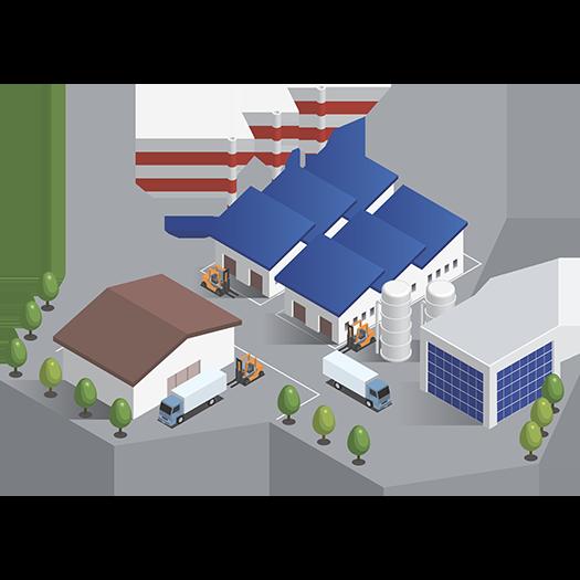 工場などの壁や屋根